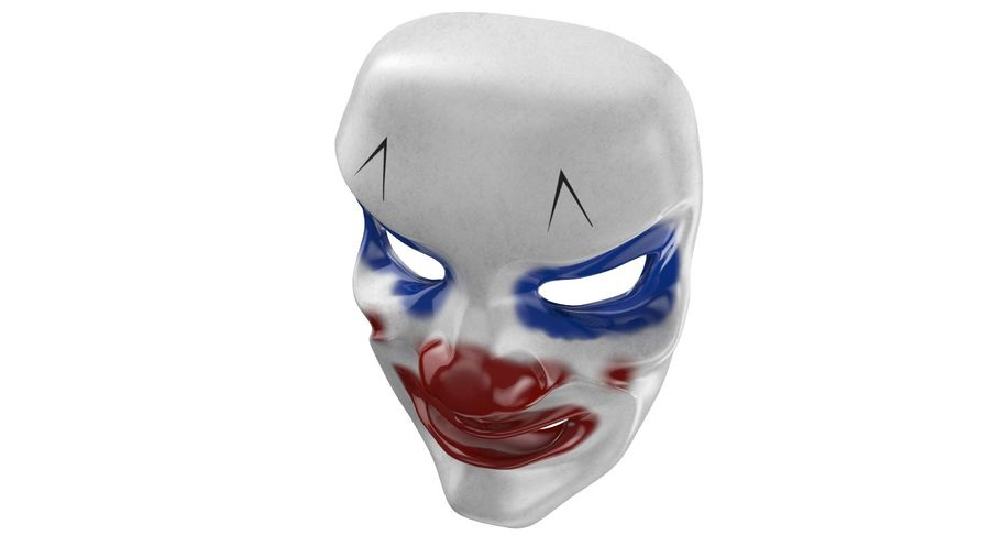 Smiley Clown Mask royalty-free 3d model - Preview no. 5