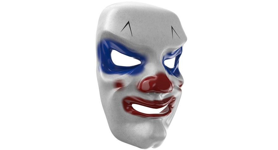 Smiley Clown Mask royalty-free 3d model - Preview no. 2