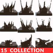 Chocolate Splash Collection 3d model