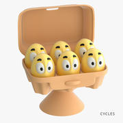 des œufs 3d model