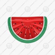 Opblaasbare watermeloen zwembadvlotter. Watermeloen vorm opblaasbare ring. 3d model