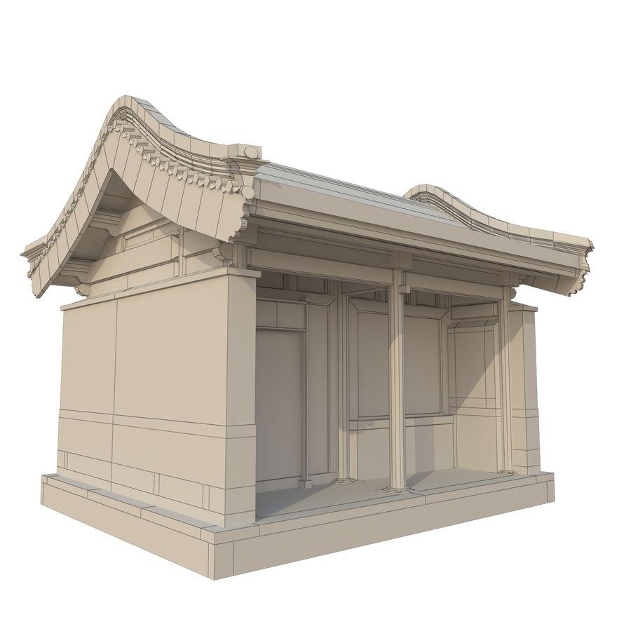 Dystrybucja starożytnej chińskiej architektury room_01 royalty-free 3d model - Preview no. 3