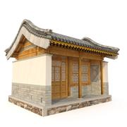 Ancient Chinese Architecture Distribution room_01 3d model