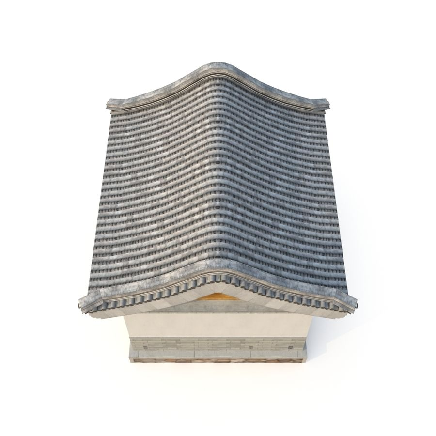 Dystrybucja starożytnej chińskiej architektury room_01 royalty-free 3d model - Preview no. 4