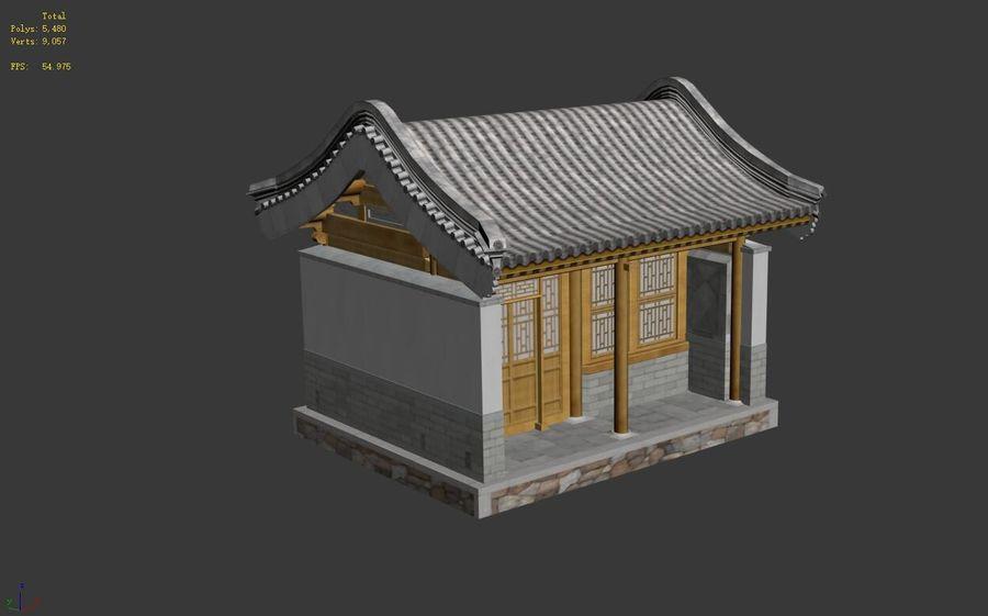 Dystrybucja starożytnej chińskiej architektury room_01 royalty-free 3d model - Preview no. 13