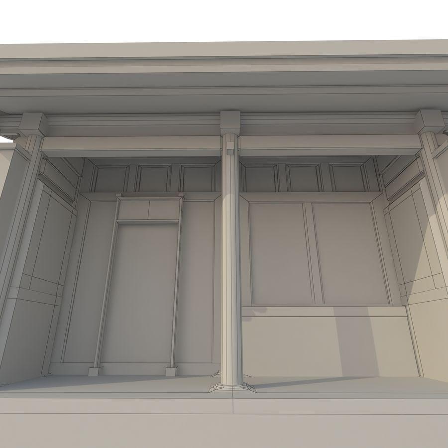 Dystrybucja starożytnej chińskiej architektury room_01 royalty-free 3d model - Preview no. 12