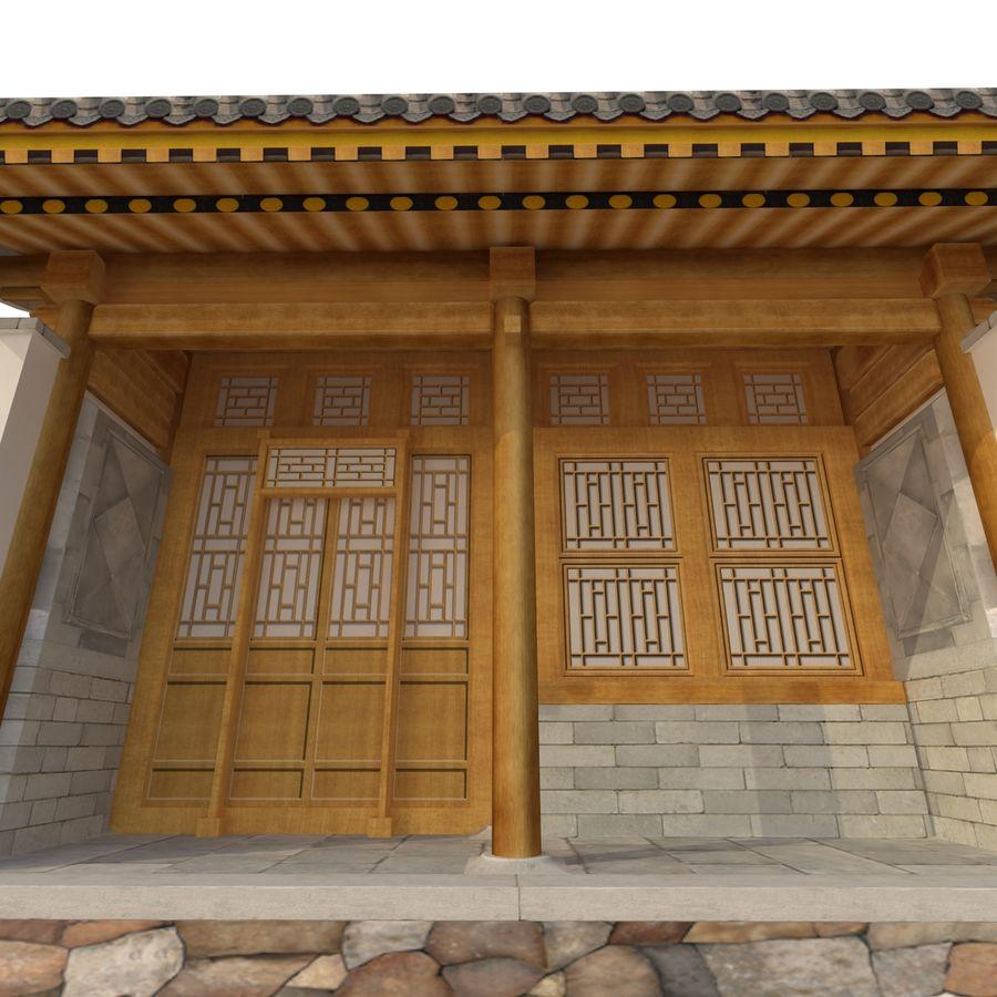 Dystrybucja starożytnej chińskiej architektury room_01 royalty-free 3d model - Preview no. 11