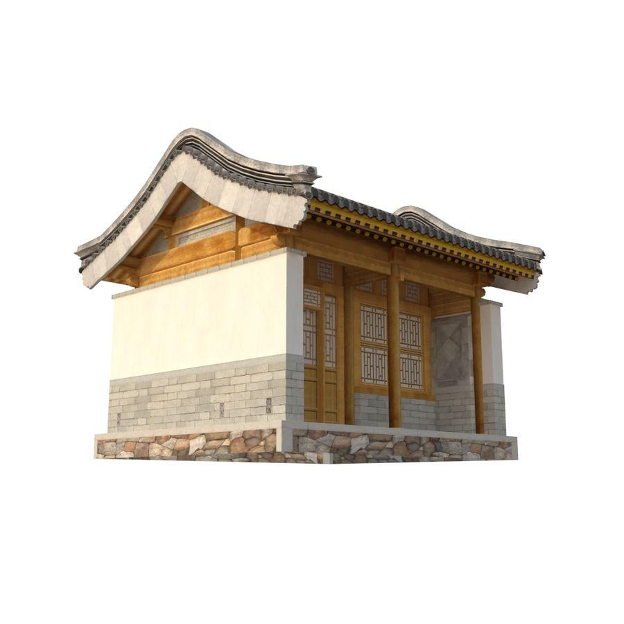 Dystrybucja starożytnej chińskiej architektury room_01 royalty-free 3d model - Preview no. 10