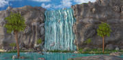 WaterFall-landskap 3d model