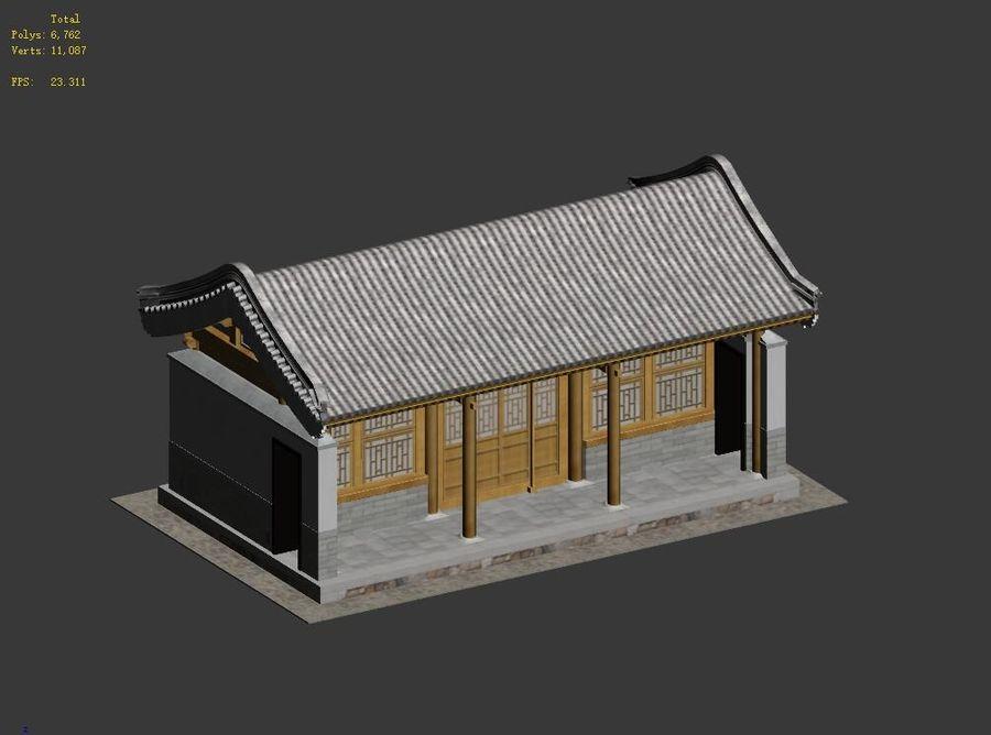 Pokój dystrybucji starożytnej chińskiej architektury 03 royalty-free 3d model - Preview no. 14
