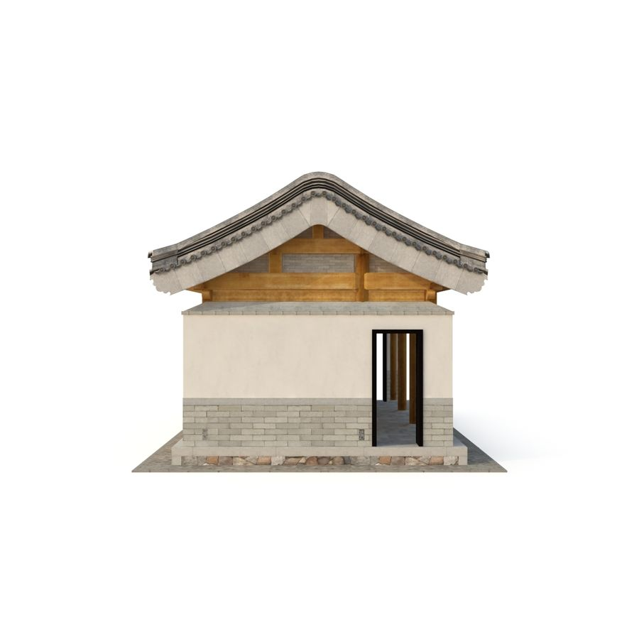 Pokój dystrybucji starożytnej chińskiej architektury 03 royalty-free 3d model - Preview no. 9