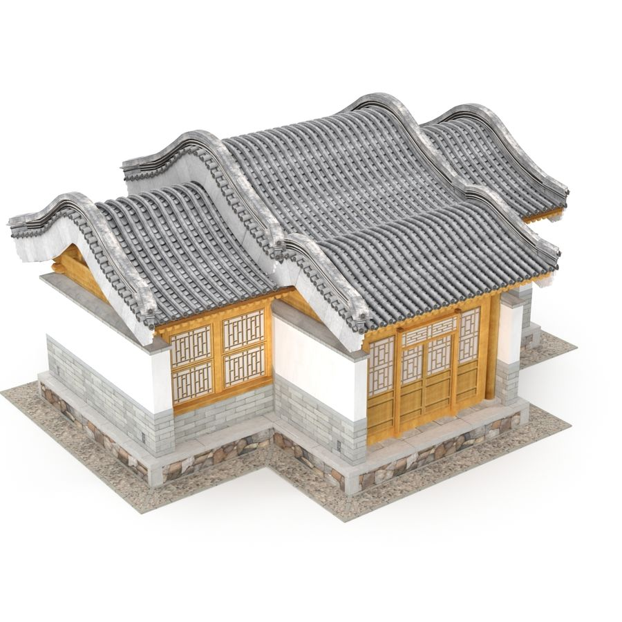 Pokój dystrybucji architektury chińskiej 04 royalty-free 3d model - Preview no. 1