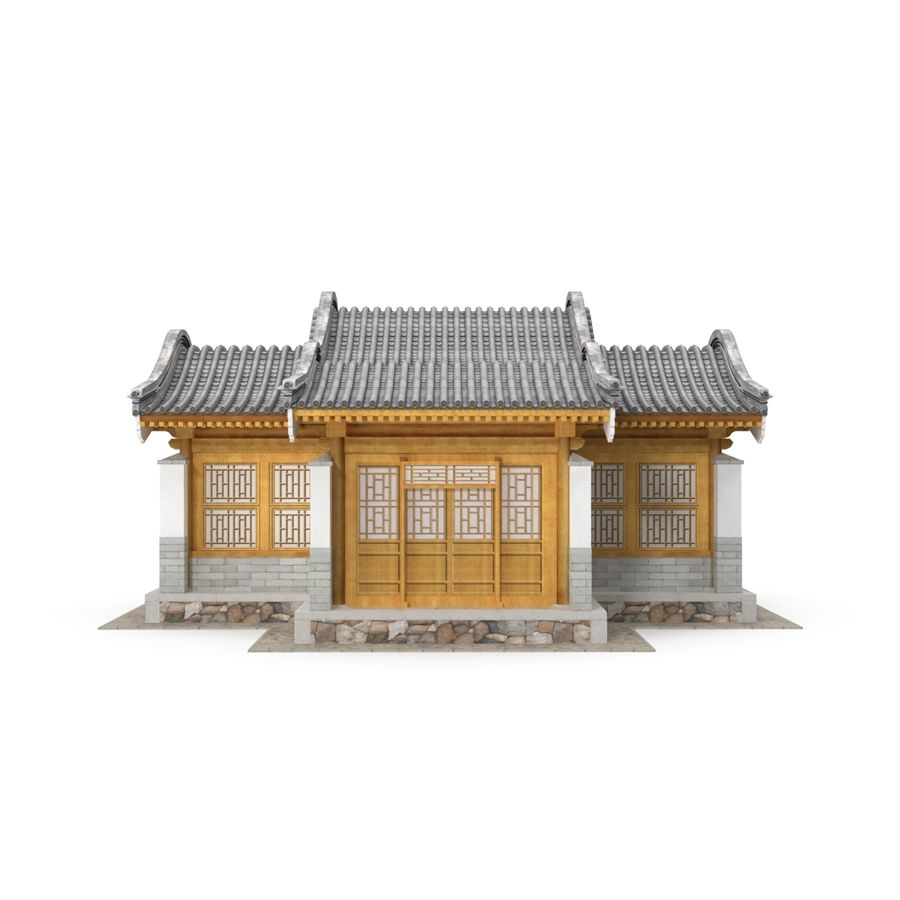 Pokój dystrybucji architektury chińskiej 04 royalty-free 3d model - Preview no. 5