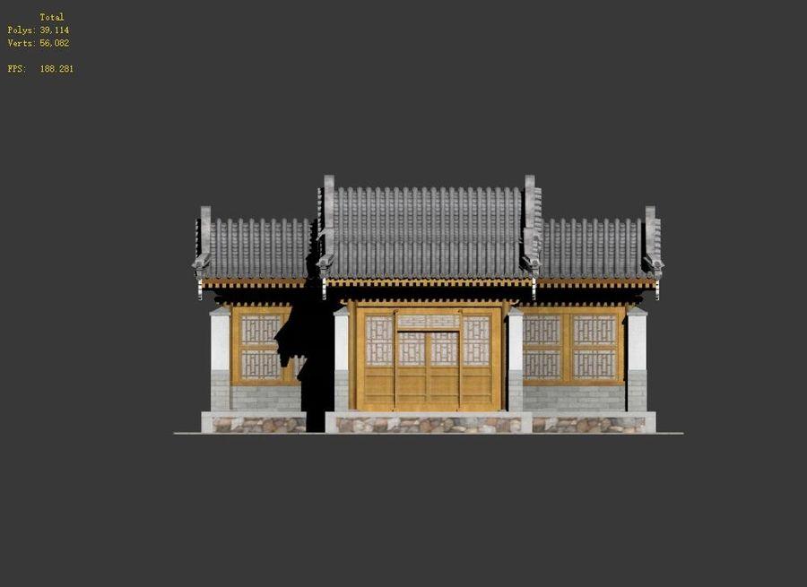 Pokój dystrybucji architektury chińskiej 04 royalty-free 3d model - Preview no. 11