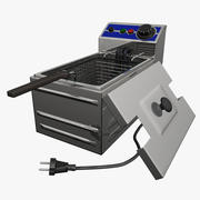 Kitchen Deep Fryer 3d model