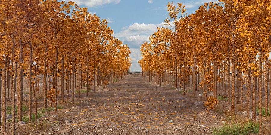 Autumn Landscape royalty-free 3d model - Preview no. 1