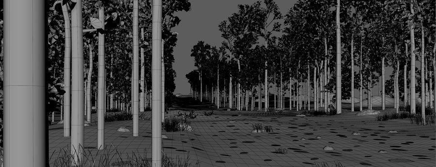 Autumn Landscape royalty-free 3d model - Preview no. 9