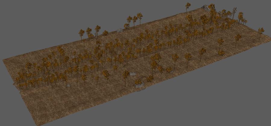 Autumn Landscape royalty-free 3d model - Preview no. 10