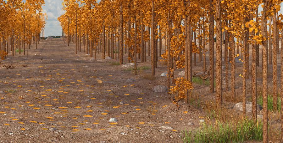 Autumn Landscape royalty-free 3d model - Preview no. 4