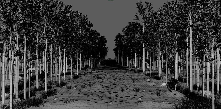 Autumn Landscape royalty-free 3d model - Preview no. 3