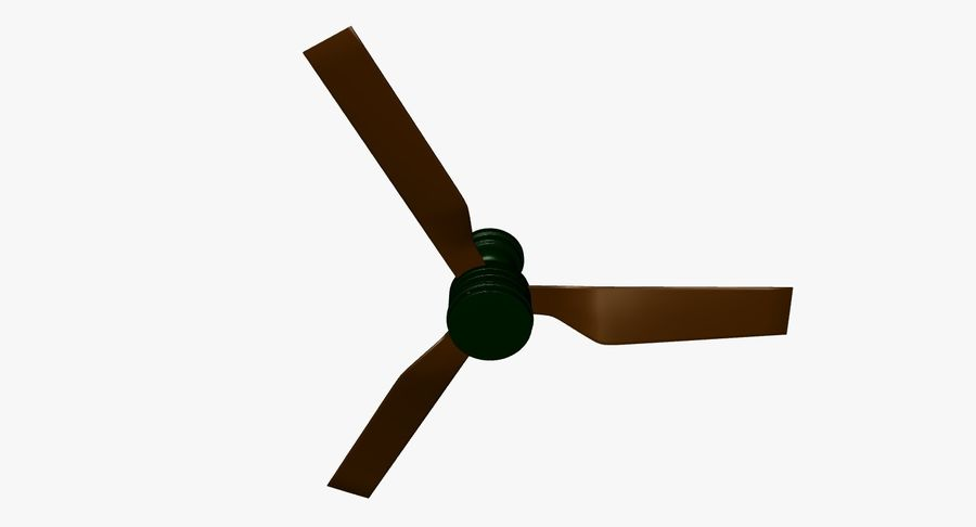 ceiling fan royalty-free 3d model - Preview no. 3
