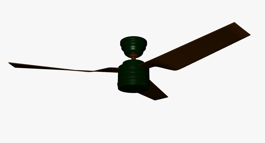 ceiling fan royalty-free 3d model - Preview no. 5