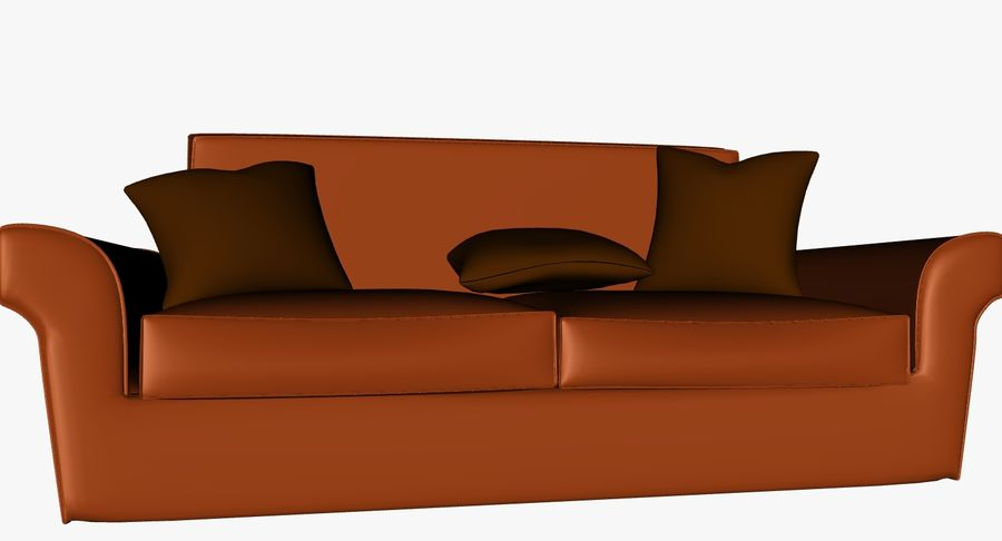 p0018 - couch royalty-free 3d model - Preview no. 2