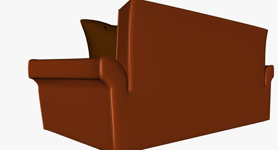 p0018 - couch royalty-free 3d model - Preview no. 4