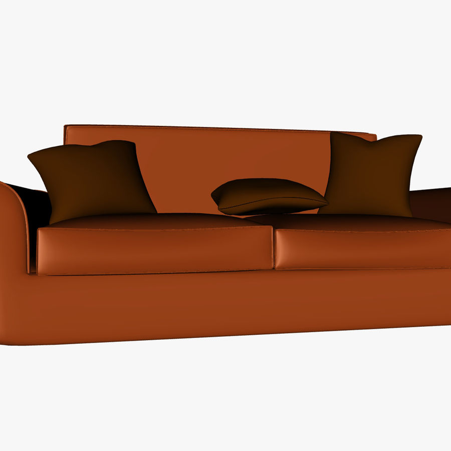p0018 - couch royalty-free 3d model - Preview no. 1