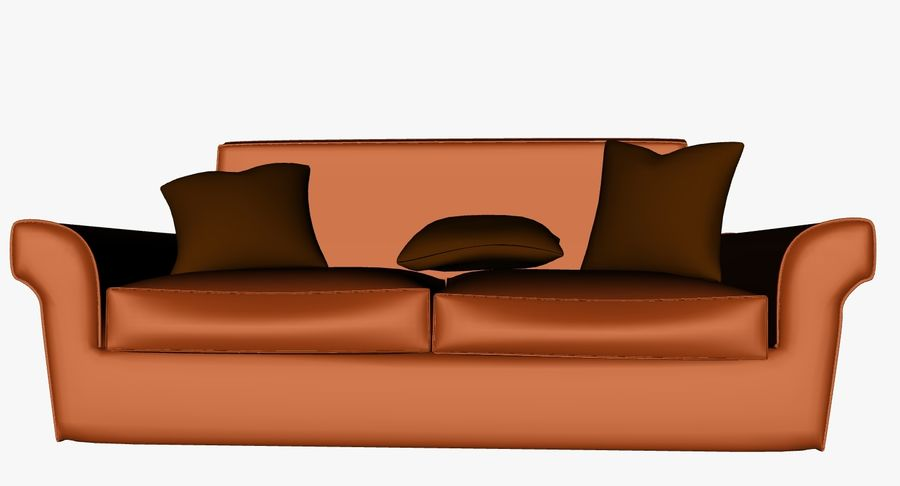 p0018 - couch royalty-free 3d model - Preview no. 3