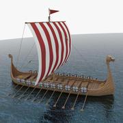 Лодка викингов 3d model