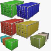 Collezione di contenitori di carico V4 3d model
