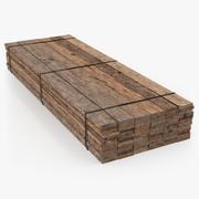 Timmerhout Stapel Oude Houten Planken 3d model