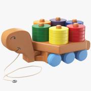 Dra leksaksringstapeln 3d model