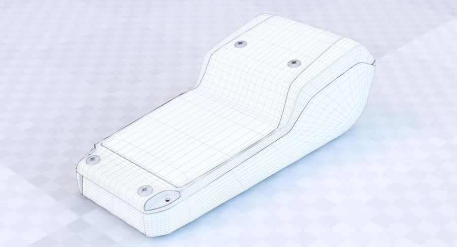 POS決済端末(1) royalty-free 3d model - Preview no. 17