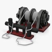 Uciąg cumowniczy z linami okrętowymi 3d model