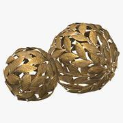 Metal Leaf Decorative Ball Set 3d model