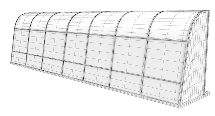 Soccer Bench royalty-free 3d model - Preview no. 16