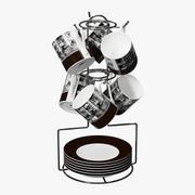 Juego de cafe modelo 3d