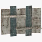 Drewniana półka 3d model