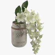 Цветок в банке 3d model