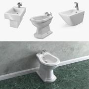 浴室ビデ3Dモデルコレクション 3d model