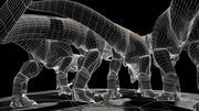 Tyrannosaurus Fight 3d model
