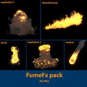 Pacchetto FumeFx: esplosioni, lanciafiamme, torcia, meteorite 3d model