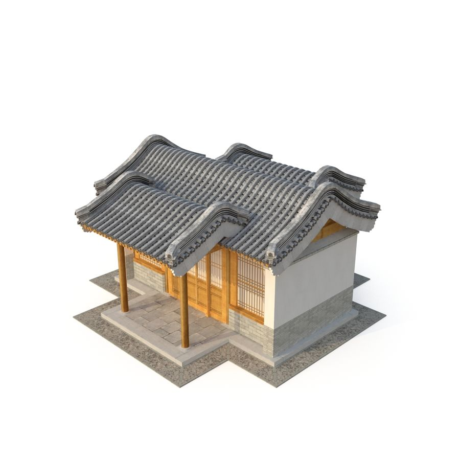 Model 3D Ancient Chinese Architecture Distribution model 05 royalty-free 3d model - Preview no. 3