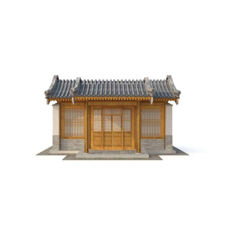 Model 3D Ancient Chinese Architecture Distribution model 05 royalty-free 3d model - Preview no. 7