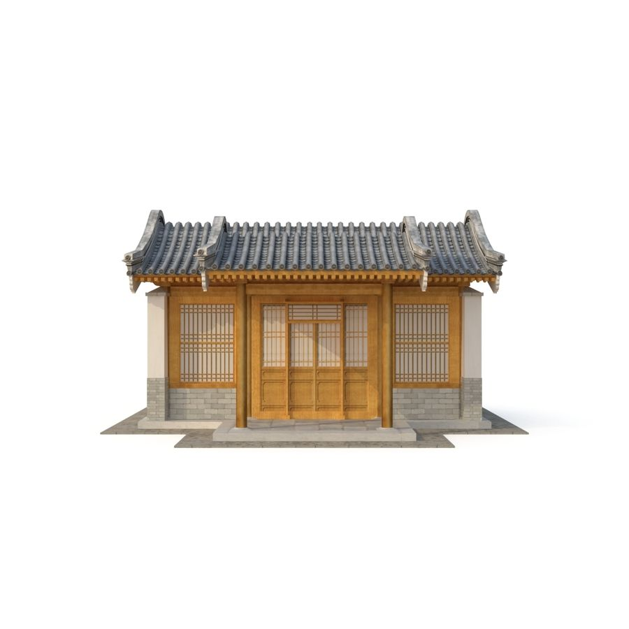 Model 3D Ancient Chinese Architecture Distribution model 05 royalty-free 3d model - Preview no. 5