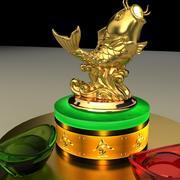 Golden Fish Statue 3d model