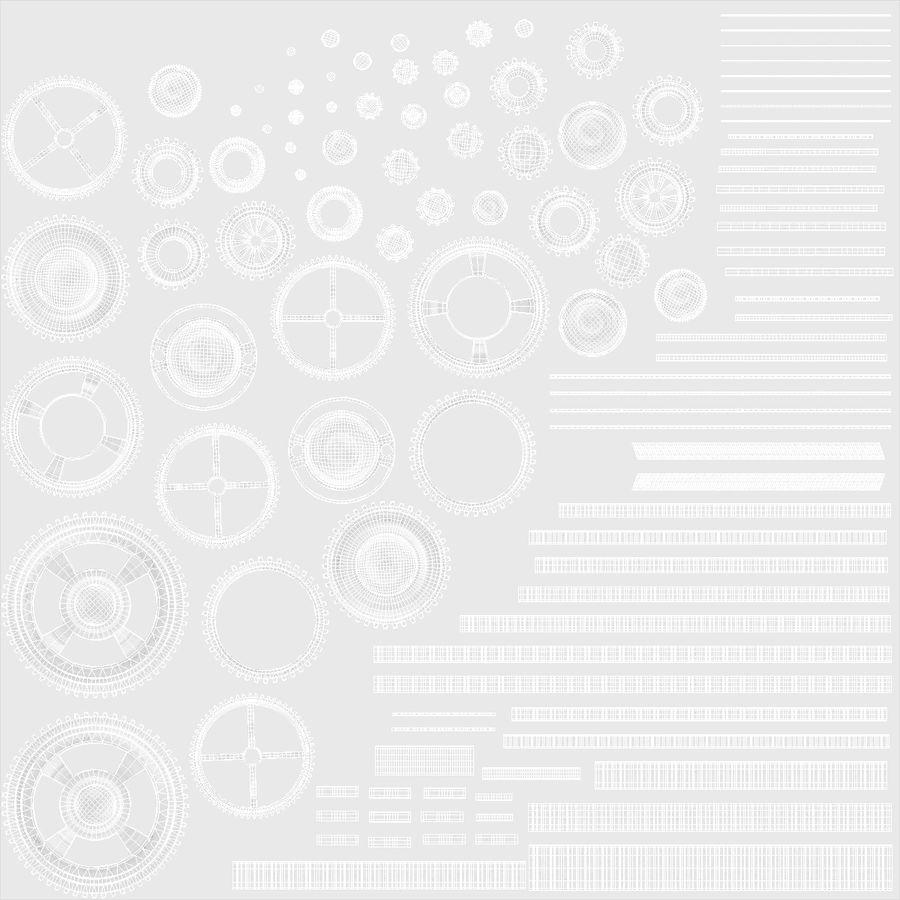 Chrome Uhrwerk royalty-free 3d model - Preview no. 21
