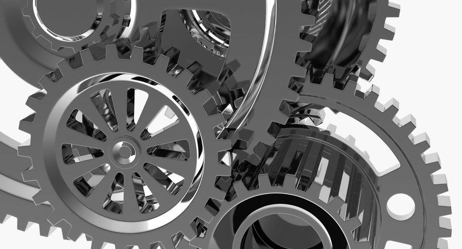 Chrome Uhrwerk royalty-free 3d model - Preview no. 15